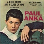 Anka, Paul - A Steel Guitar And A Glass Of Wine/I Never Knew Your Name (with picture sleeve) - NM9/EX8 - 45 rpm Records