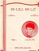 Caron, Leslie - Hi-Lili, Hi-Lo - SHEET MUSIC for the love theme from 1953 film -Lili- as sung by Leslie Caron (ENCHANTING portrait - NICE condition, a COLLECTOR'S ITEM!) (THIS IS SHEET MUSIC, NOT ANY OTHER KIND OF MEDIA! Shipping rate same as 45rpm record