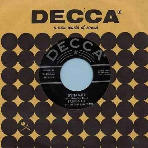 Lee, Brenda - Dynamite/Love You 'Till I Die (with Decca company sleeve) - VG6/ - 45 rpm Records