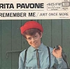 Pavone, Rita - Remember Me/Just Once More (with picture sleeve and juke box label) - EX8/EX8 - 45 rpm Records