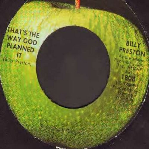 Preston, Billy - That's The Way God Planned It/What About You (with Apple company sleeve and juke box label) - NM9/ - 45 rpm Records