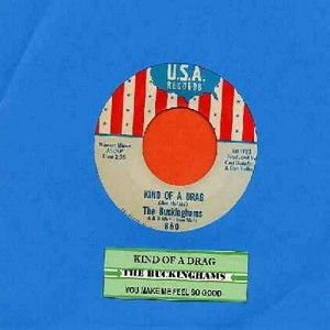 Buckinghams - Kind Of A Drag/You Make Me Feel So Good (with juke box label) - EX8/ - 45 rpm Records
