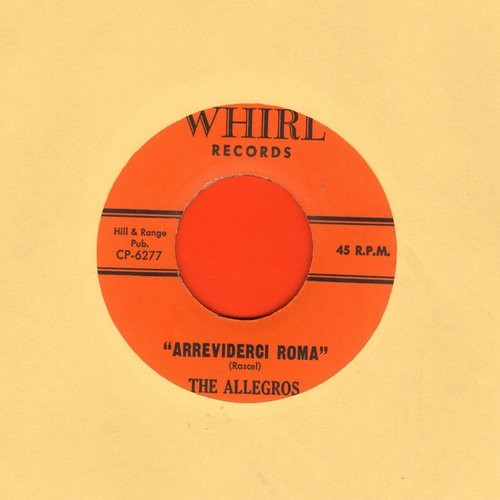 Allegros - Arrividerci Roma/Misty - VG7/ - 45 rpm Records