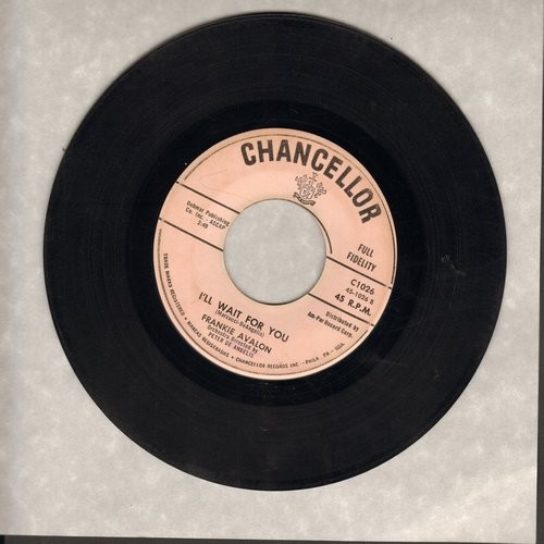 Avalon, Frankie - I'll Wait For You/What Little Girl - VG7/ - 45 rpm Records