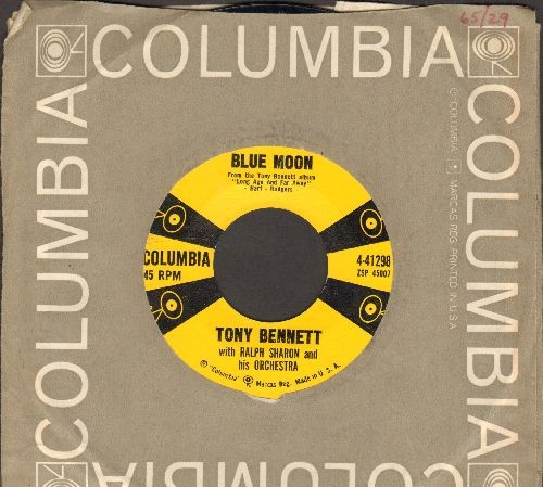Bennett, Tony - Blue Moon/Love Look Away (with Columbia company sleeve) - NM9/ - 45 rpm Records