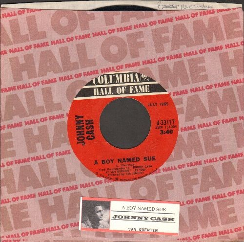 Cash, Johnny - A Boy Named Sue/San Quentin (re-issue with company sleeve and juke box label) - EX8/ - 45 rpm Records