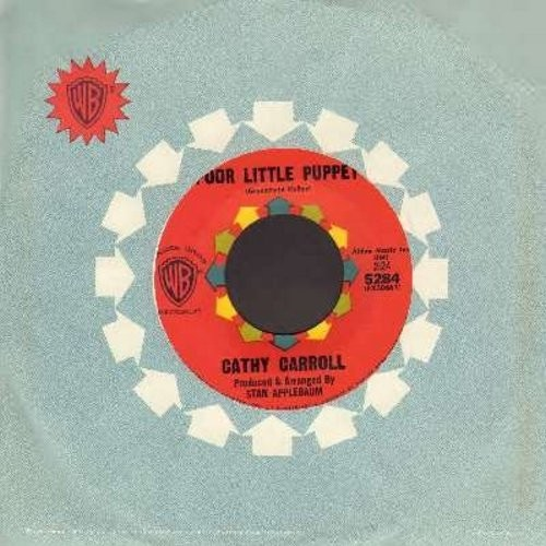Carroll, Cathy - Poor Little Puppet/Love And Learn (FANTASTIC Girl-Sound Two-Sider! - with vintage Warner Brothers company sleeve) - EX8/ - 45 rpm Records