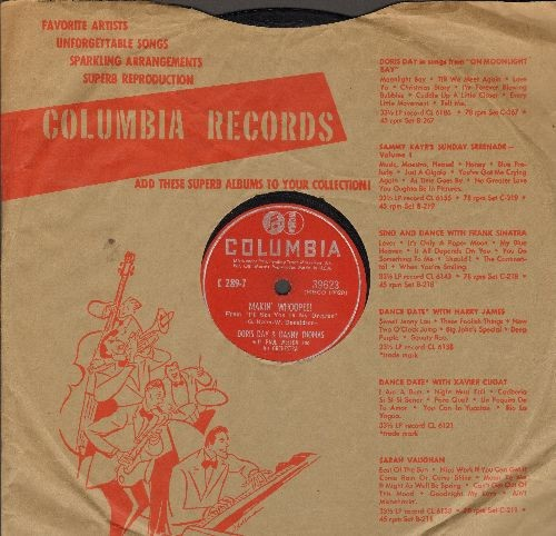 Day, Doris - Makin' Whoopee! (Duet with Danny Thomas)/The One I Love (RARE 10 inch 78 rpm record with Columbia company sleeve) - EX8/ - 78 rpm