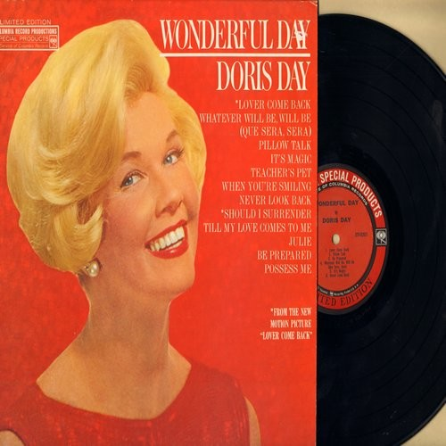 Day, Doris - Wonderful Day: Pillow Talk, Teacher's Pet, It's Magic, Possess Me, Julie, Lover Come Back  (vinyl LP record) (Special Edition with eyes) - VG7/VG7 - LP Records