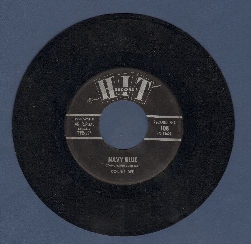 Dee, Connie - Navy Blue/Stop And Think It Over (by Dotty & Dan on flip-side) (contemporary cover versions of hits) - VG7/ - 45 rpm Records