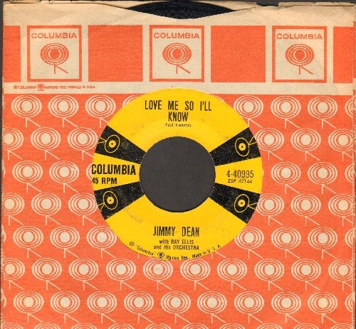 Dean, Jimmy - Love Me So I'll Know/Deep Blue Sea (with Columbia company sleeve) - EX8/ - 45 rpm Records