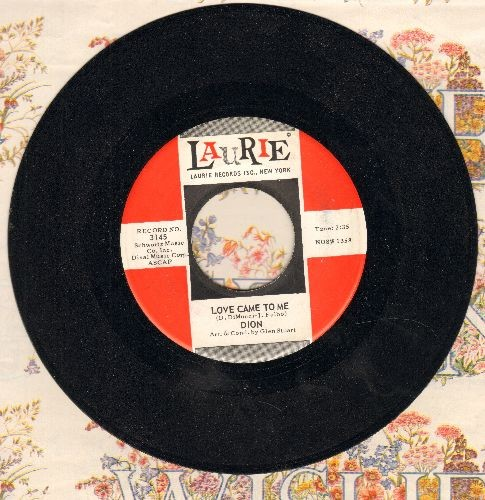 Dion - Love Came To Me/Little Girl (with vintage Laurie company sleeve) - NM9/ - 45 rpm Records
