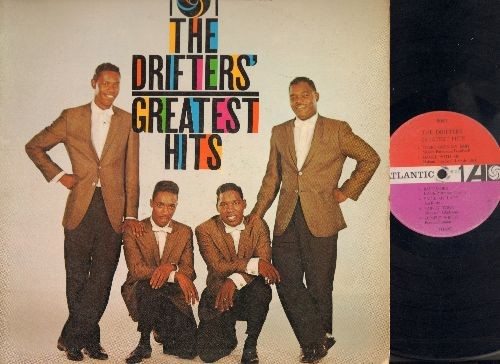 Drifters - The Drifters' Greatest Hits: There Goes My Baby, Dance With Me, This Magic Moment, Souvenirs (vinyl MONO LP record, white windmill logo) - VG7/VG7 - LP Records