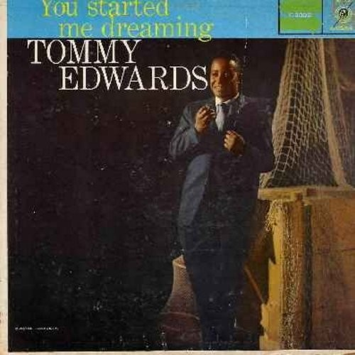 Edwards, Tommy - You Started Me Dreaming: Indian Summer, Always, Lost In The Desert Of Love, You're A Heavenly Thing, Until The Real Thing Comes Along (vinyl LP record) - VG7/G5 - LP Records
