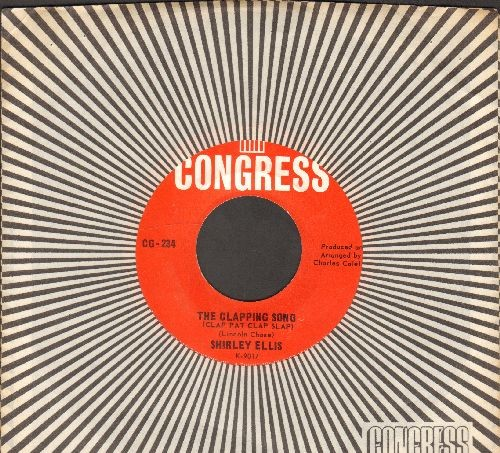 Ellis, Shirley - The Clapping Song (Clap Pat Clap Slap)/This Is Beautiful (with RARE Congress company sleeve) - NM9/ - 45 rpm Records