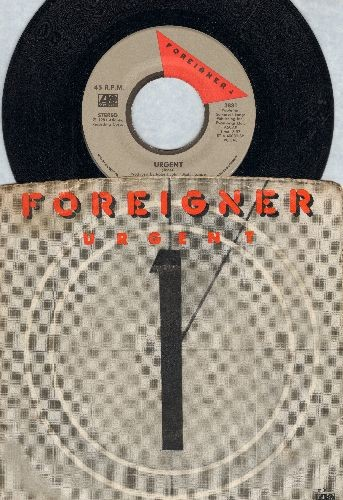 Foreigner - Urgent/Girl On The Moon (with picture sleeve) - VG7/EX8 - 45 rpm Records