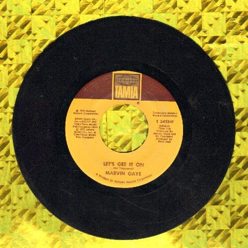 Gaye, Marvin - Let's Get It On/I Wish It Would Rain - EX8/ - 45 rpm Records