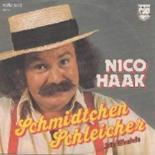 Haak, Nico - Schmidtchen Schleicher (mit den elastischen Beinen)/Die Ukulele (with picture sleeve) (German Pressing, sung in German) (This Novelty Record was the German Summer Hit of 1976!) - M10/NM9 - 45 rpm Records