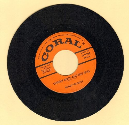 Hackett, Buddy - Chinese Rock And Egg Roll/Ting Me A Tong (with vintage Coral company sleeve) - VG7/ - 45 rpm Records