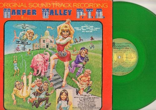 Harper Valley P.T.A. - Harper Valley P.T.A. - Original Motion Picture Sound Track, GREEN Vinyl STEREO LP record - EX8/VG7 - LP Records