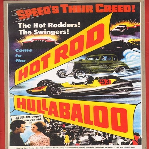 hotrod hullabaloo full color 16 x 105 inch reproduced