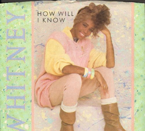 Houston, Whitney - How Will I Know/Someone For Me (with picture sleeve) - VG7/EX8 - 45 rpm Records