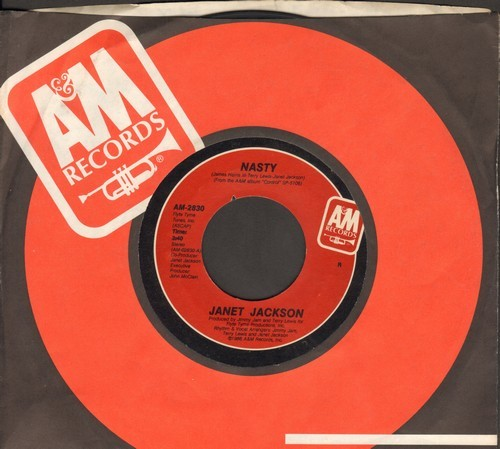 Jackson, Janet - Nasty/You'll Never Find (A Love Like Mine) (with A&M company sleeve) - NM9/ - 45 rpm Records