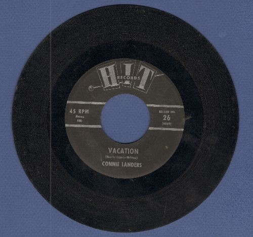 Landers, Connie - Vacation/Rinky Dink (by The Boots Percell Combo on flip-side) (contemporary cover versions) - VG7/ - 45 rpm Records