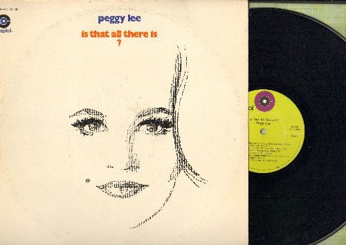 Lee, Peggy - Is That All There Is?: My Old Flame, Something, I'm A Woman, Me And My Shadow, Love Story (vinyl STEREO LP record) - EX8/VG7 - LP Records