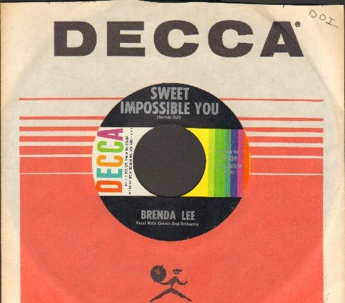 Lee, Brenda - Sweet Impossible You/The Grass Is Greener (Where You Are)(with Decca company sleeve) - NM9/ - 45 rpm Records