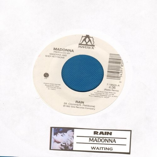 Madonna - Rain/Waiting (with juke box label) - M10/ - 45 rpm Records