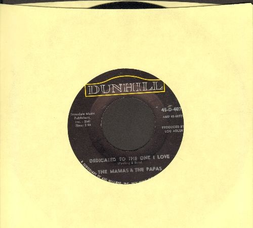 Mamas & Papas - Dedicated To The One I Love/Free Advice  - EX8/ - 45 rpm Records