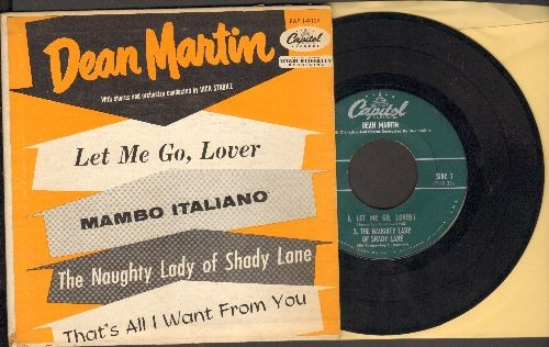 Martin, Dean - Mambo Italiano/Let Me Go, Lover/The Naughty Lady Of Shady Lane/That's All I Want From You (vinyl EP record with picture cover) - VG7/VG7 - 45 rpm Records