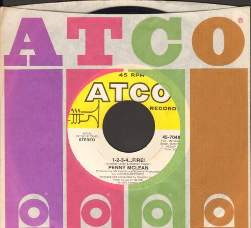 McLean, Penny - 1-2-3-4…Fire! (1975 Euro Dance Hit capitalizng on the short-lived Bump Craze, follow-up to International Hit -Lady Bump-)/Smoke Gets In Your Eyes - EX8/ - 45 rpm Records