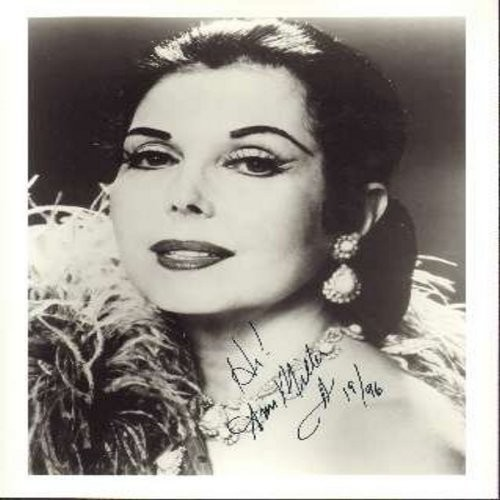 "Miller, Ann - Personalized 8 X 1+C2420 black & white AUTOGRAPH. Signed ""Hi! Ann Miller, 1996"" Shipping rate same as 45rpm record! - M10/ - Autographs"