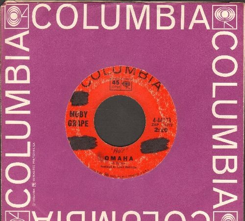 Moby Grape - Omaha/Someday (with grape color Columbia company sleeve) (wol) - VG6/ - 45 rpm Records