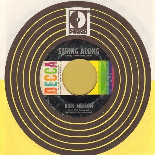 Nelson, Rick - String Along/Gypsy Woman (with vintage Decca company sleeve) - VG7/ - 45 rpm Records