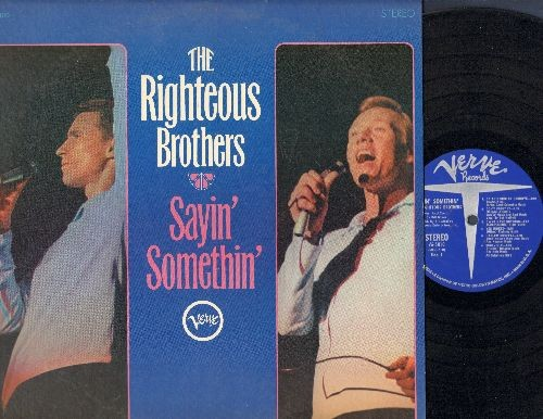 Righteous Brothers - Sayin' Somethin': Harlem Shuffle, I Who Have Nothing, Along Came Jones, My Girl (vinyl STEREO LP record, DJ advance copy) - NM9/EX8 - LP Records