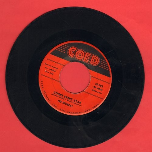 Rivieras - Count Every Star/True Love Is Hard To Find  - VG7/ - 45 rpm Records