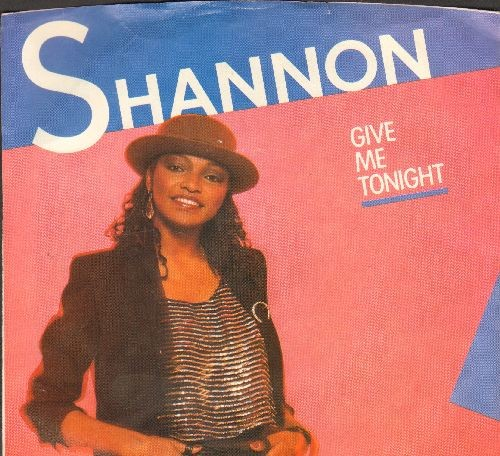 Shannon - Give Me Tonight/Give Me Tonight (Dub Mix)(with picture sleeve) - EX8/EX8 - 45 rpm Records