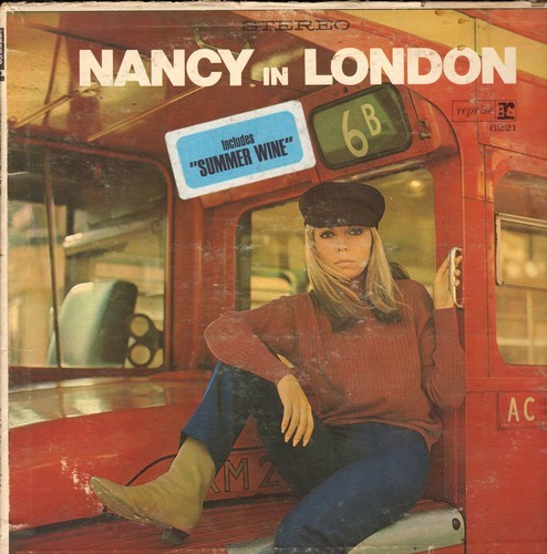Sinatra, Nancy - Nancy In London: Wishin' And Hopin', The More I See You, Friday's Child, The End, Summer Wine, On Broadway (vinyl STEREO LP record) - EX8/VG6 - LP Records