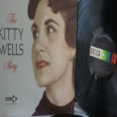 Wells, Kitty - The Kitty Wells Story: Release Me, She's No Angel, Mommy For A Day, Jealousy (2 vinyl LP record set, gate-fold cover) - EX8/EX8 - LP Records