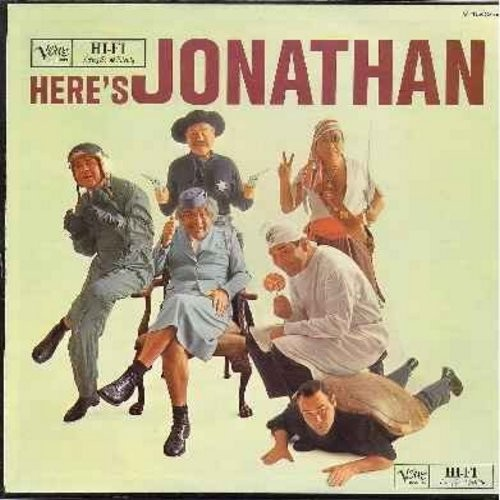 Winters, Jonathan - Here's Jonathan: Test Flight, Billy The Kid, New Flying Saucer, Oldest Airline Stewardess, Child Psychiatrist, Thoughts Of A Turtle (vinyl MONO LP record) - EX8/VG7 - LP Records