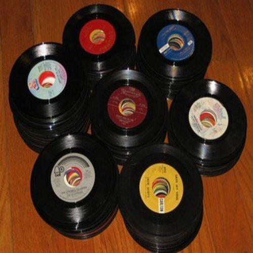 Bulk 45s - 150 - 150 Bulk 45rpm records--variety of eras and directions--mostly in good to excellent condition-many recognizable titles--ranging from 1950s to 1990s, no paper sleeves - G4-to-M10/ - Bulk Vinyl 45rpm Records