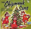 Chipmunks - The Chipmunk Song/Alvin's Harmonica (1959 issue with juke box label and RARE picture sleeve showing Chipmunks as animals) - EX8/EX8 - 45 rpm Records