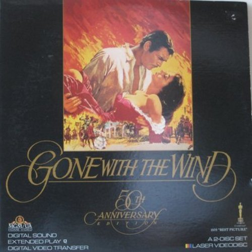 Gone With The Wind - Gone With The Wind - 50th Anniversary LASERDISC SET - 2 Discs, GREAT Gift! - This is a set of LASERDISCS, not any other kind of media! - NM9/EX8 - LaserDiscs