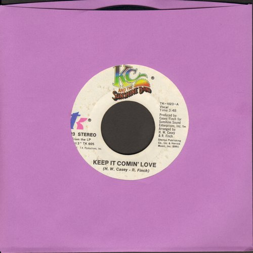 K.C. & The Sunshine Band - Keep It Comin' Love/Baby I Love You - NM9/ - 45 rpm Records
