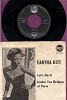 Kitt, Eartha - Let's Do It (Let's Fall In Love)/Under The Bridges Of Paris (Danish Pressing with picture sleeve, sung in English and French) - VG7/EX8 - 45 rpm Records