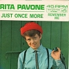Pavone, Rita - Remember Me/Just Once More (with picture sleeve and juke box label) - EX8/NM9 - 45 rpm Records