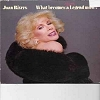 Rivers, Joan - What Becomes A (Semi-) Legend Most? - Live recording of Joan Rivers' stage act (1983) - filled with compliments for her best friends Liz Taylor, Rod Stewart, Queen Elizabeth and many other European Royals. Joan Rivers invented the art of ba